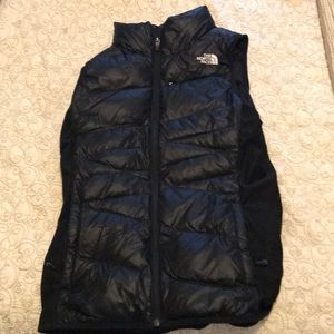 The North Face Black puffer vest